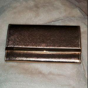 Beautiful shiny gold clutch/evening bag